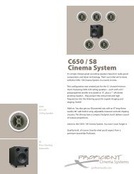 CC650 - Proficient Audio Systems