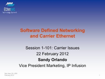 Software Defined Networking and Carrier Ethernet