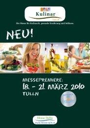 18. – 21. MArz 2010 .. - Messe Tulln