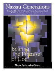 December - Nassau Presbyterian Church