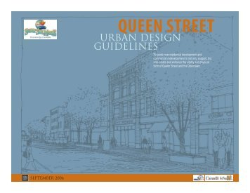 Queen Street Urban Design Guidelines - City of Sault Ste Marie