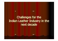Challenges for the Indian Leather Industry in the Indian Leather ...