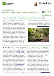 Wandern, Wald und Wein - Haus der Nachhaltigkeit