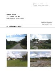 YTTERBY S:5 m fl PLANBESKRIVNING - Tanums kommun