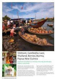Vietnam, Cambodia, Laos, Thailand, Borneo, Burma, Papua New ...