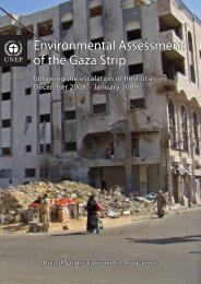 Environmental Assessment of the Gaza Strip - UNEP
