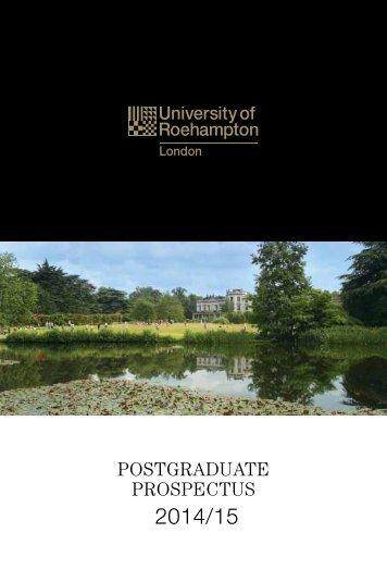 PROSPECTUS 2012/13 - University of Roehampton