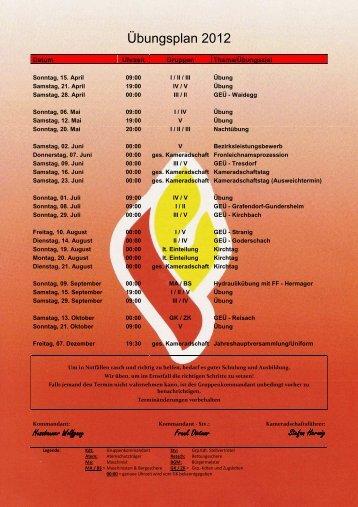 Übungsplan 2012 - Gitschtaler.at