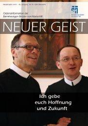 Neuer Geist 3/4-2011 zum Download - Barmherzige Brüder von ...