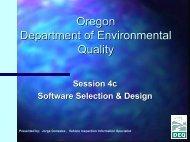 Oregon Department of Environmental Quality OBD Workshop