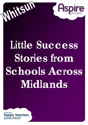 Whitsun Little Success Stories Newsletter - Aspire People
