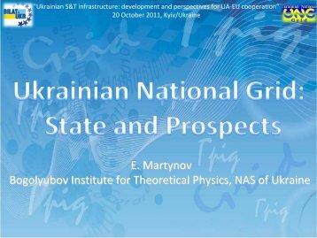 Ukrainian National Grid: State and Prospects (E ... - BILAT-UKR