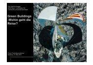 Green Buildings -Wohin geht die Reise? - Forum Technikjournalismus