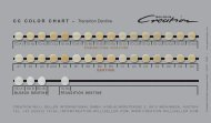 CC COLOR CHART – Transition Dentine - Jensen Dental