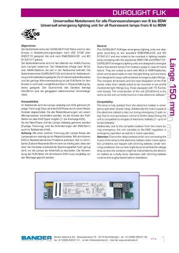 durolight flik - Sander elektronik