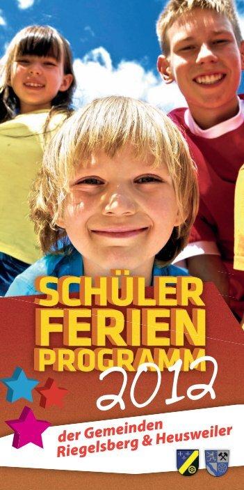 Ferienprogramm 2012 - Gemeinde Heusweiler