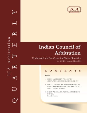 Jan-March 2012 (fonts change) - Indian Council of Arbitration