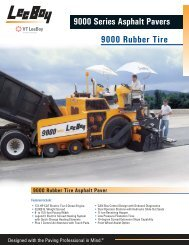9000 Rubber Tire 9000 Series Asphalt Pavers - LeeBoy