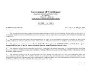 Government of West Bengal - Department of Health & Family Welfare