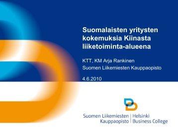 Suomen Liikemiesten Kauppaopisto-Arja Rankinen
