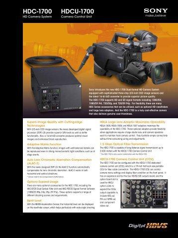 HDC-1700 HDCU-1700 - WTS Broadcast