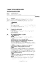 centrale medezeggenschapsraad verslag cmr-23/04-06-2002