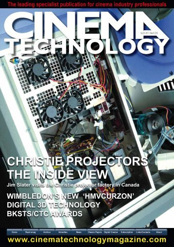 Christie in Cinema Technology Magazine