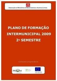 Plano de Formação Intermunicipal 2009 - 2º semestre - Beja Digital