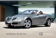 Specifications. The SLK - Class - Mercedes-Benz South Africa