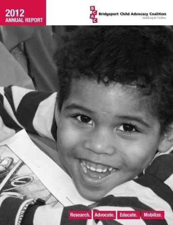 2012 Annual Report - Bridgeport Child Advocacy Coalition