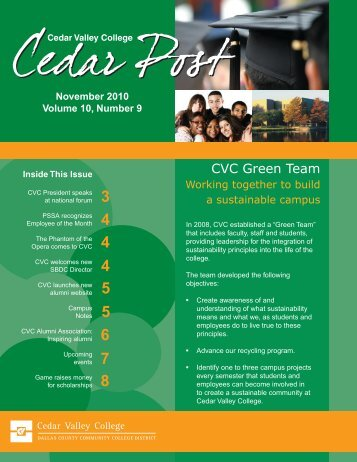 November 2010 - Cedar Valley College