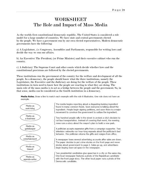 role of mass media