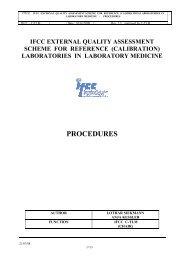 IFCC-RELA-EQAS procedure manual - RfB
