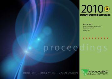 2010 Student Capstone Proceedings (PDF) - the Virginia Modeling ...