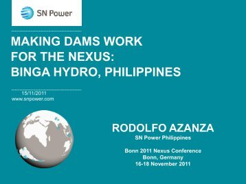 Rodolfo T. Azanza Jr. SN Power (PDF, 2.3 MB) - The Water, Energy ...
