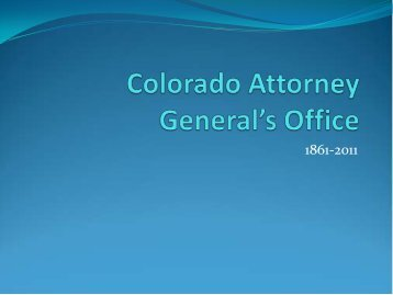 Colorado Attorney General's Office - Colorado Division of Water ...