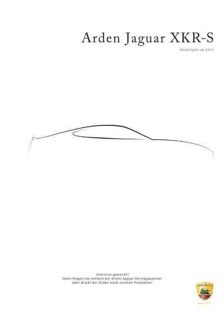 Preisliste Jaguar XKR-S - Arden