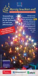 programm 2011 für die Weihnachts - Stadt Merzig