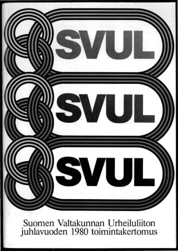SVUL:n toiminta 1980