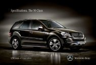 Specifications. The M - Class - Mercedes-Benz South Africa