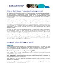 What is the Unilever Future Leaders Programme? - Universum ...