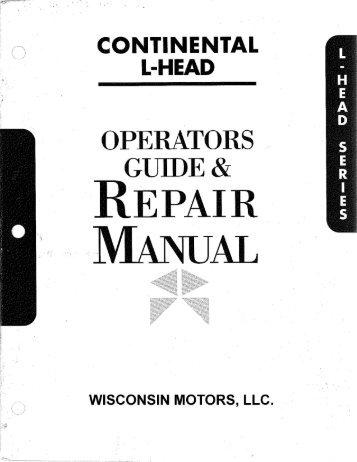 Wisconsin Tjd repair Manual