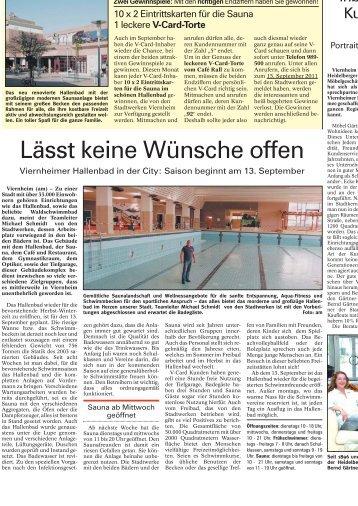 Lässt keine Wünsche offen - Link zu den Seiten V-Card Viernheim ...