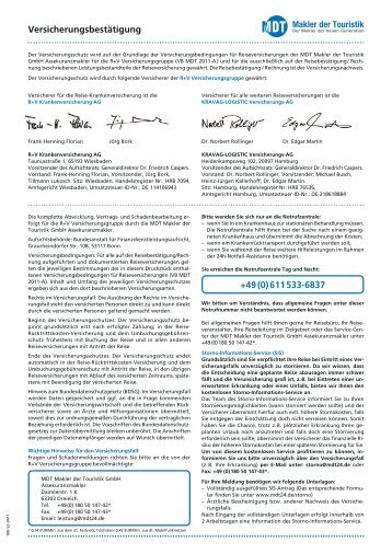 Versicherungsbestätigung +49 (0) 611 533-6837 - Pferd & Reiter
