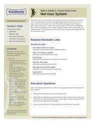 Teacher's Guide: Nervous System (PreK to Grade 2) - KidsHealth