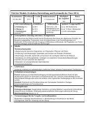 Modulbeschreibung Biologie II/A - Fachgruppe Biologie an der Uni ...