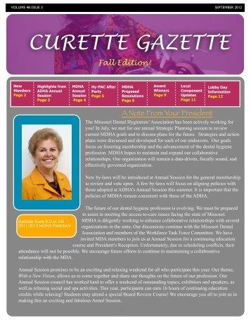 Curette Gazette September 2012 - Missouri Dental Hygienists ...