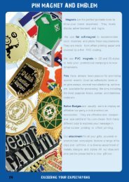 Page 1 PIN MAGNET AND EMBLEM '@ Magnets are the perfect ...