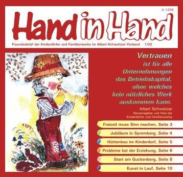 Hand in Hand 01/2002 - Albert-Schweitzer-Verband