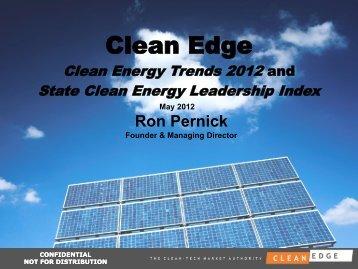 CESA Webinar: Clean Edge Presentation - Clean Energy Trends 2012